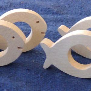 Aarikka Finland wood fish napkin rings shore
